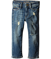 DL1961 Kids - Harper Boyfriend Unstitched Cuffed Jeans in Meerkat (Toddler/Little Kids)