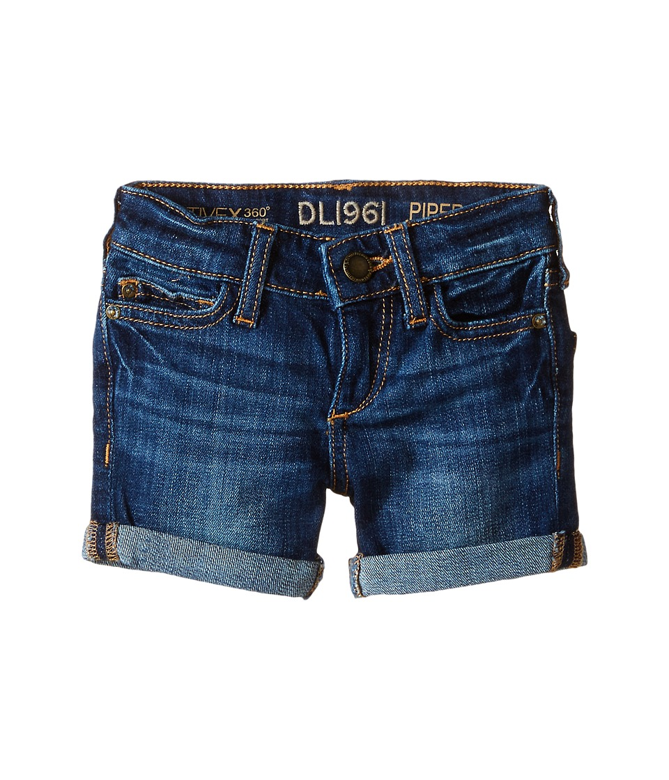 DL1961 Kids - Piper Unstitched Cuffed Jean Shorts (Toddler/Little Kids) (Sea Lion) Girls Shorts