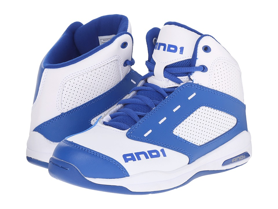 AND1 Kids Typhoon Little Kid/Big Kid Royal/Bright White/Bright White Boys Shoes