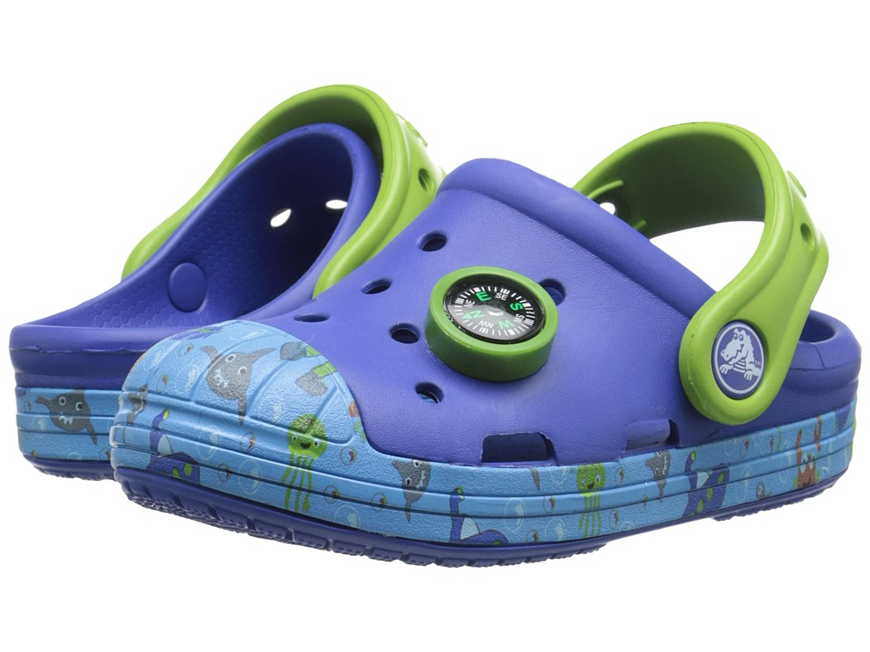 Crocs Kids Bump It Sea Life Clog Toddler/Little Kid Cerulean Blue Boys Shoes