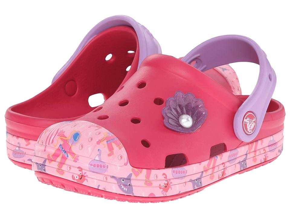 Crocs Kids Bump It Sea Life Clog Toddler/Little Kid Raspberry Girls Shoes