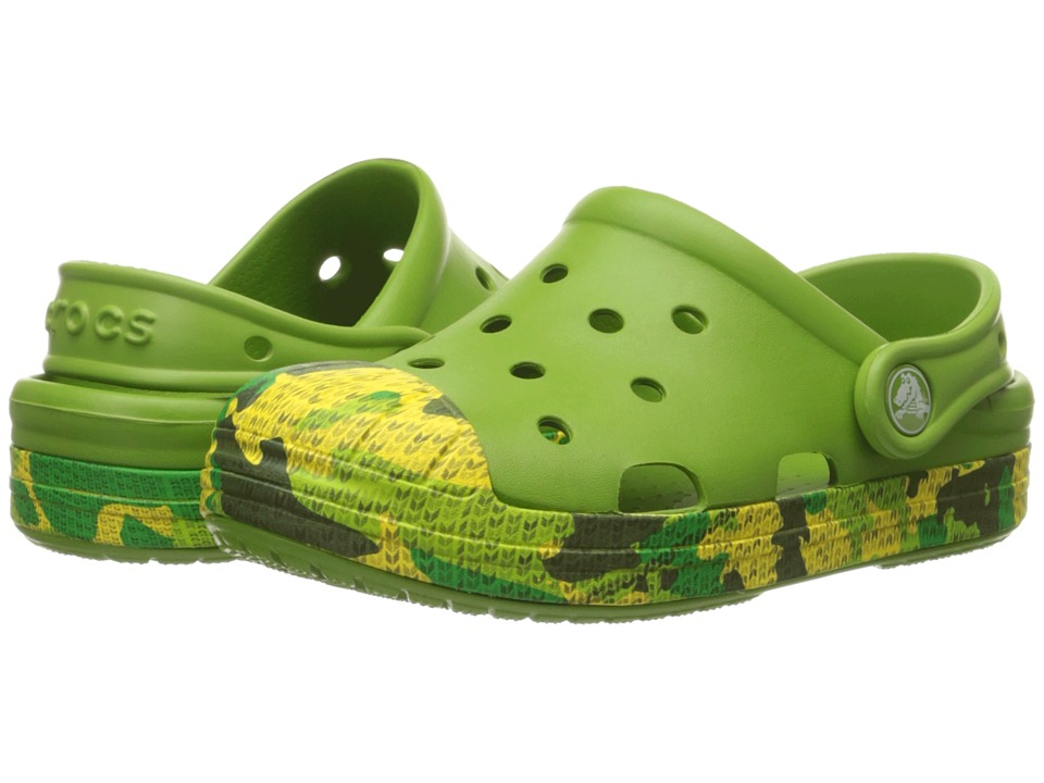 Crocs Kids Bump It Camo Clog Toddler/Little Kid Parrot Green Boys Shoes