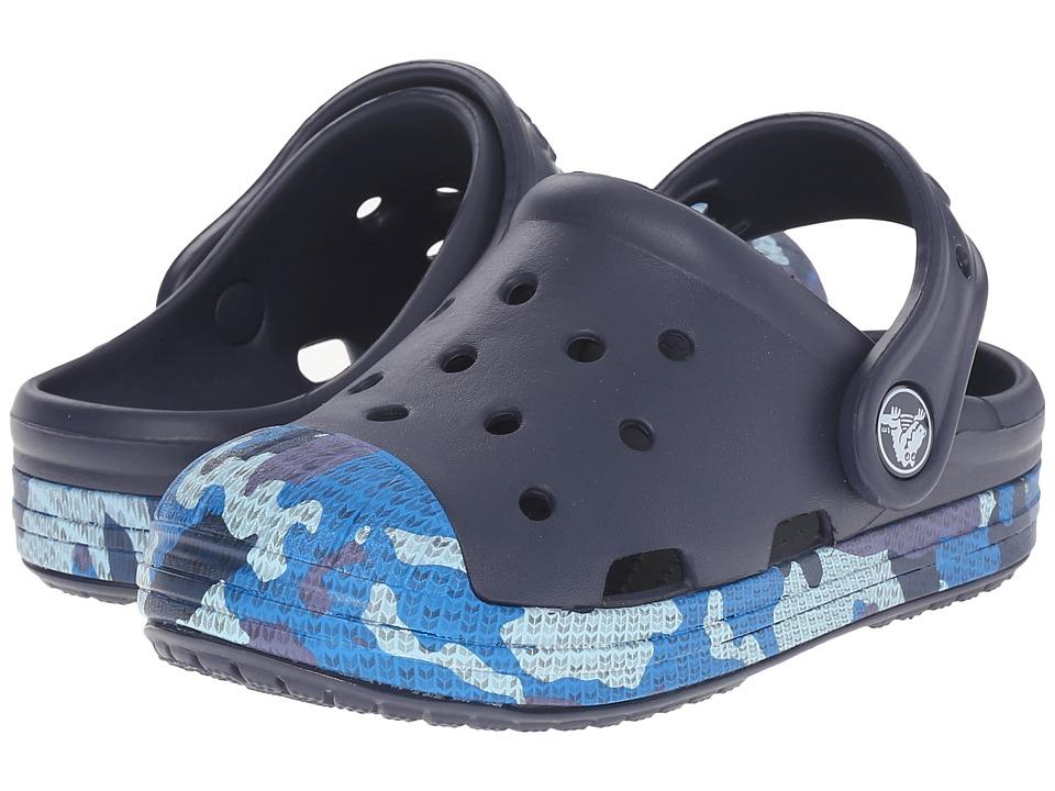 Crocs Kids Bump It Camo Clog Toddler/Little Kid Navy Boys Shoes