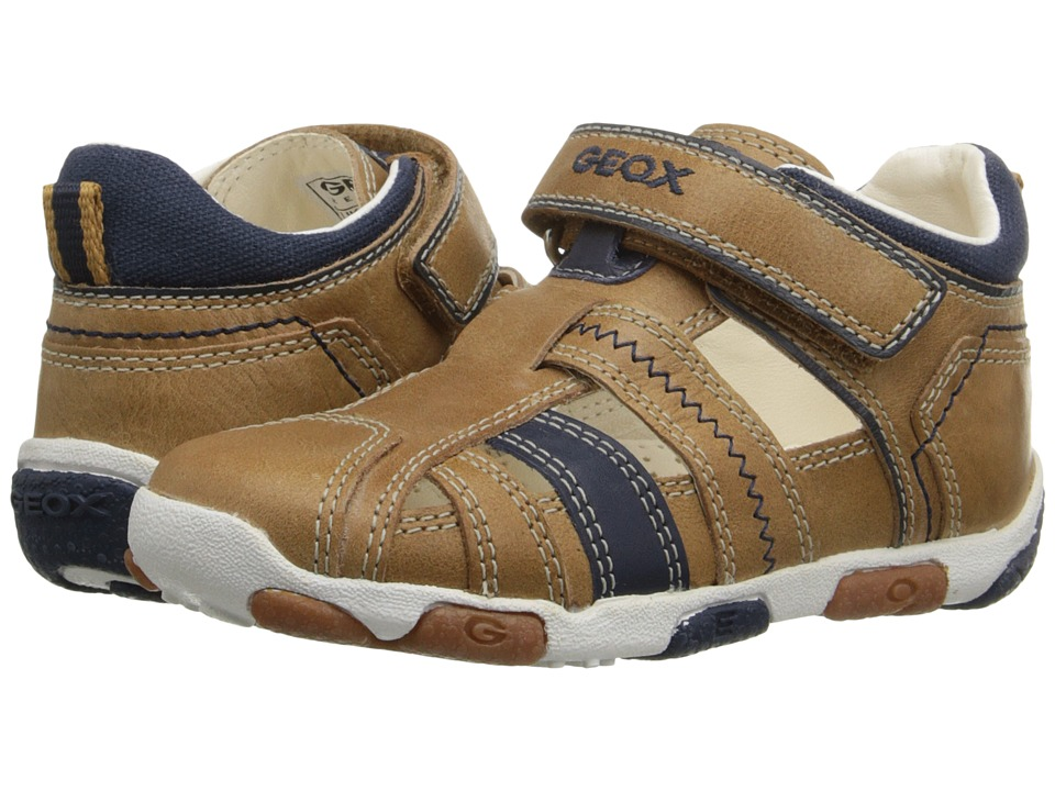 Geox Kids Baby Balu Boy 50 Infant/Toddler Caramel/Navy Boys Shoes