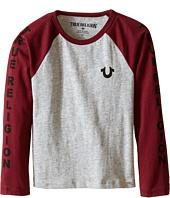 True Religion Kids  Long Sleeve Raglan Logo Tee Shirt (Toddler/Little Kids)