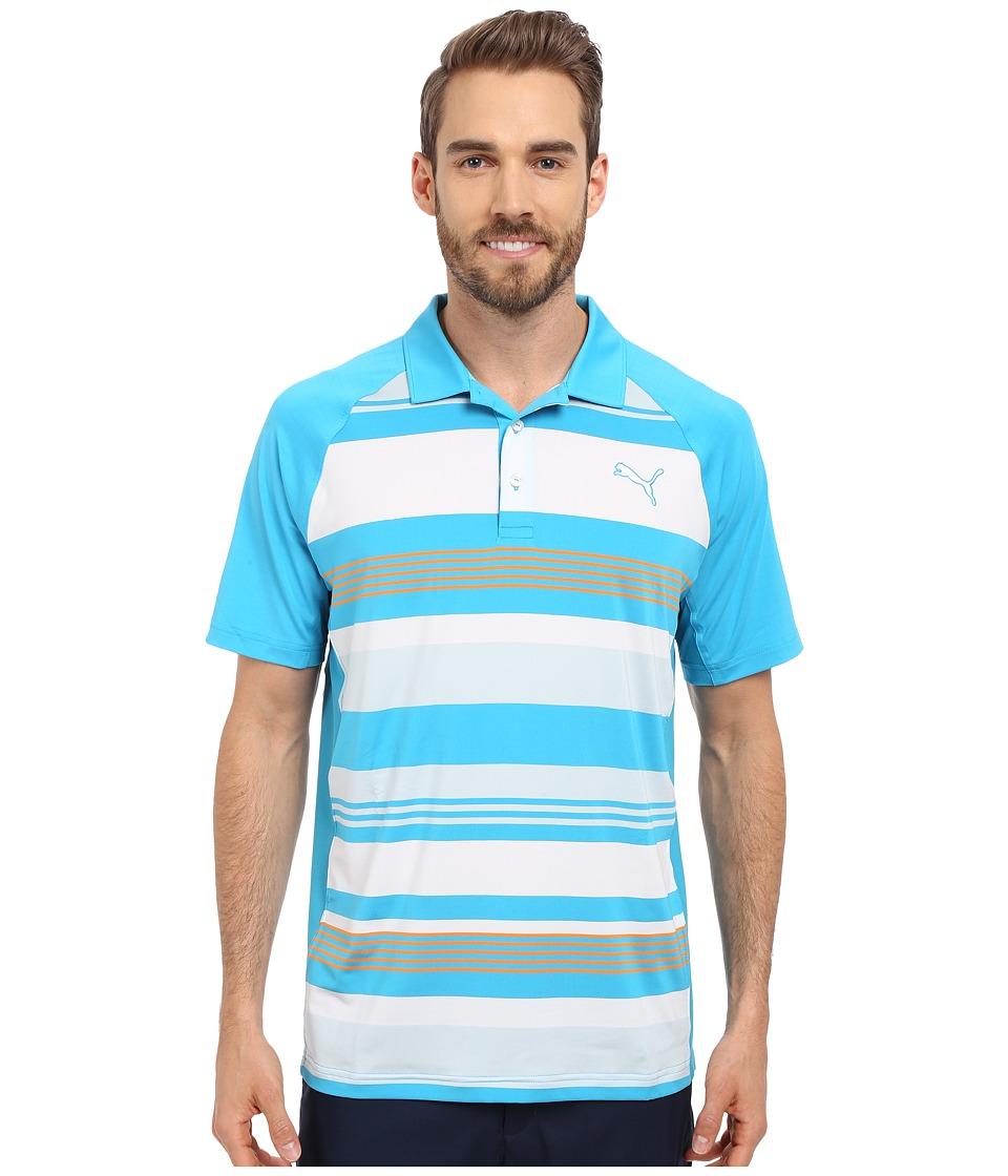 PUMA Golf GT Roadmap Polo Atomic Blue Mens Clothing
