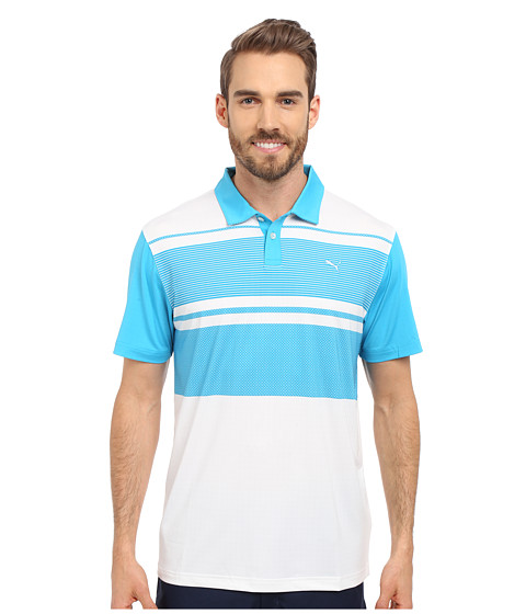 PUMA Golf Short Sleeve Patternblock Polo