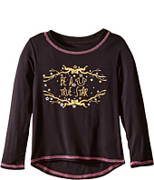 True Religion Kids - High-Low Long Sleeve Graphic Tee Shirt (Toddler/Little Kids)