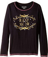 True Religion Kids - High-Low Long Sleeve Graphic Tee Shirt (Big Kids)