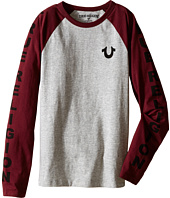 True Religion Kids - Long Sleeve Raglan Logo Tee Shirt (Big Kids)
