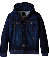 True Religion Kids - Dylan Indigo French Terry Hoodie Jacket (Big Kids)