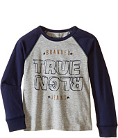 True Religion Kids - Long Sleeve Raglan Indigo Jersey Tee Shirt (Toddler/Little Kids)