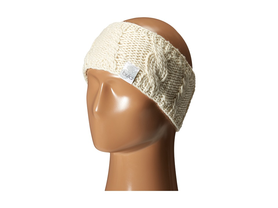 BULA Aran Earband Ivory Knit Hats