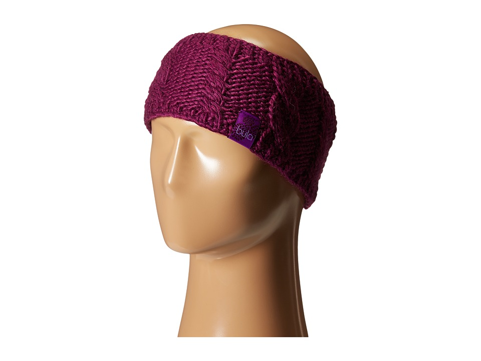 BULA Aran Earband Plum Knit Hats