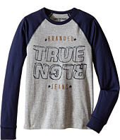 True Religion Kids - Long Sleeve Raglan Indigo Jersey Tee Shirt (Big Kids)