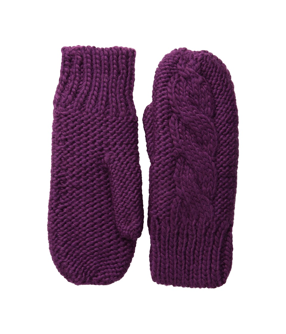 BULA Aran Mitten Plum Over Mits Gloves