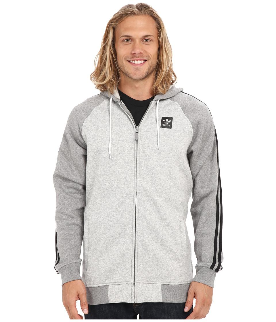 adidas Skateboarding AS Hooded Track Jacket Medium Grey Heather/Core Heather Mens Coat