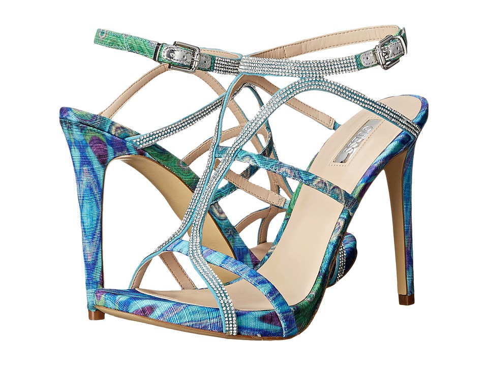 GUESS - Adalee (Multi Blue Fabric) High Heels