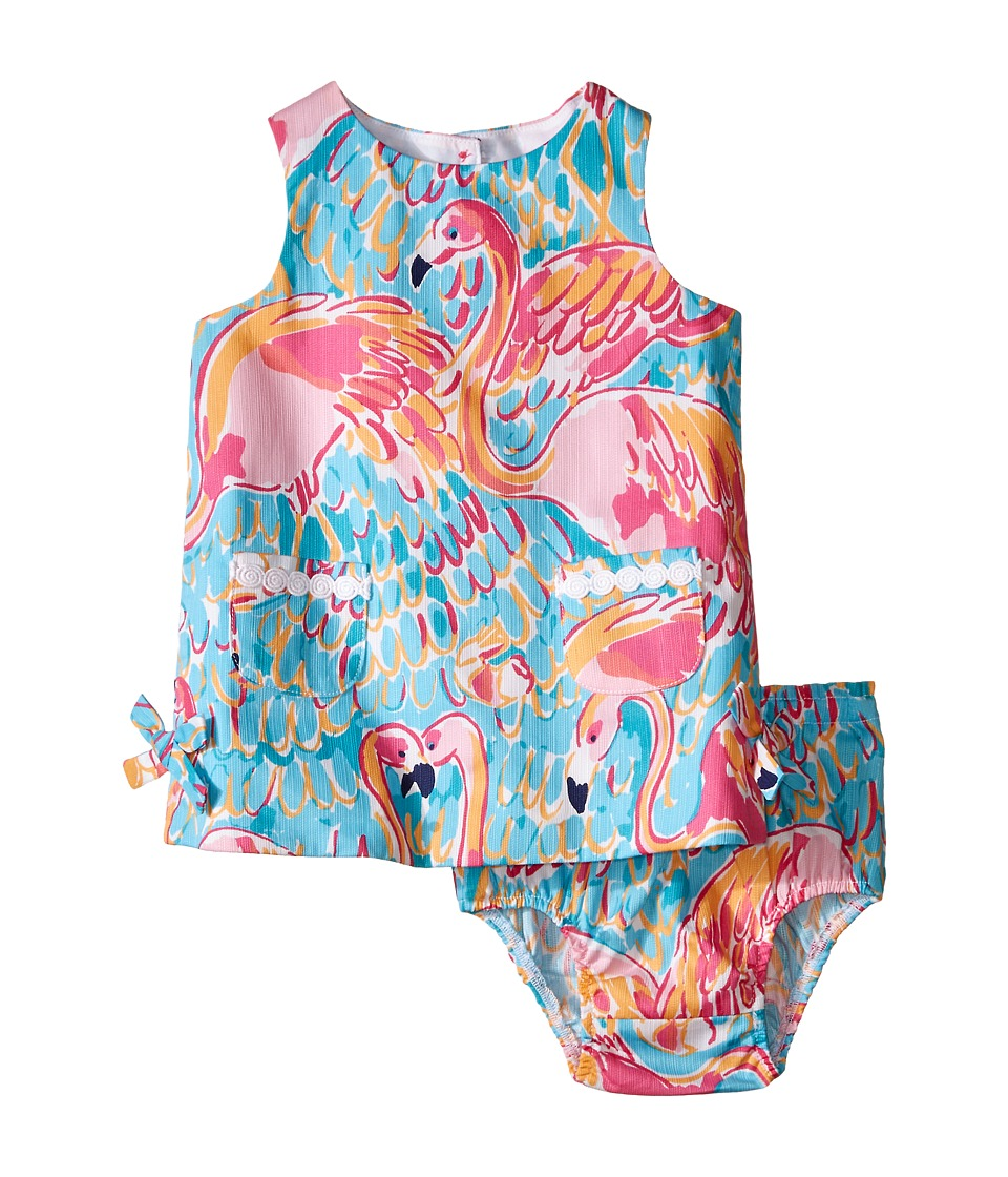 Lilly Pulitzer Kids Baby Lilly Shift Dress Infant Multi Peel and Eat Girls Dress