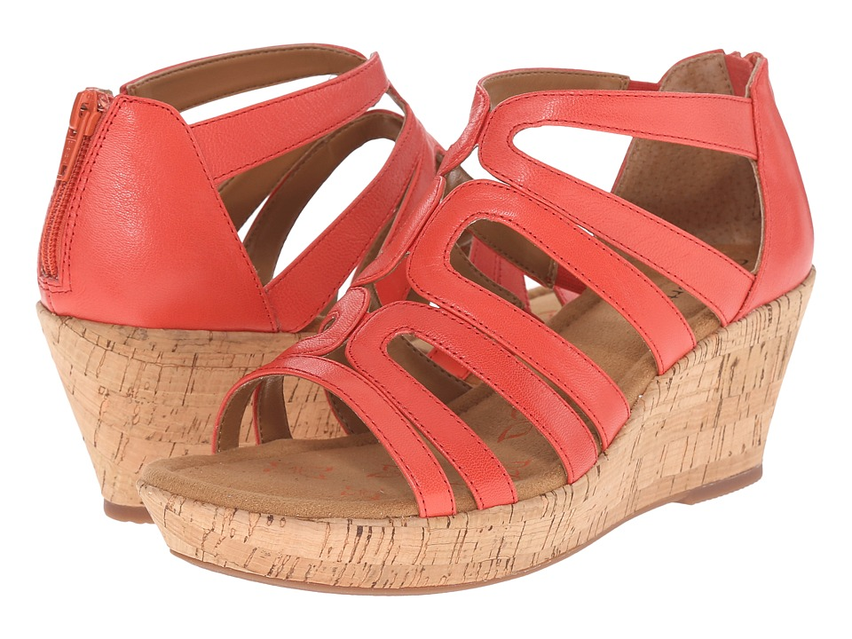 Comfortiva Redmond Coral Goat Leather Pull Up Womens Wedge Shoes
