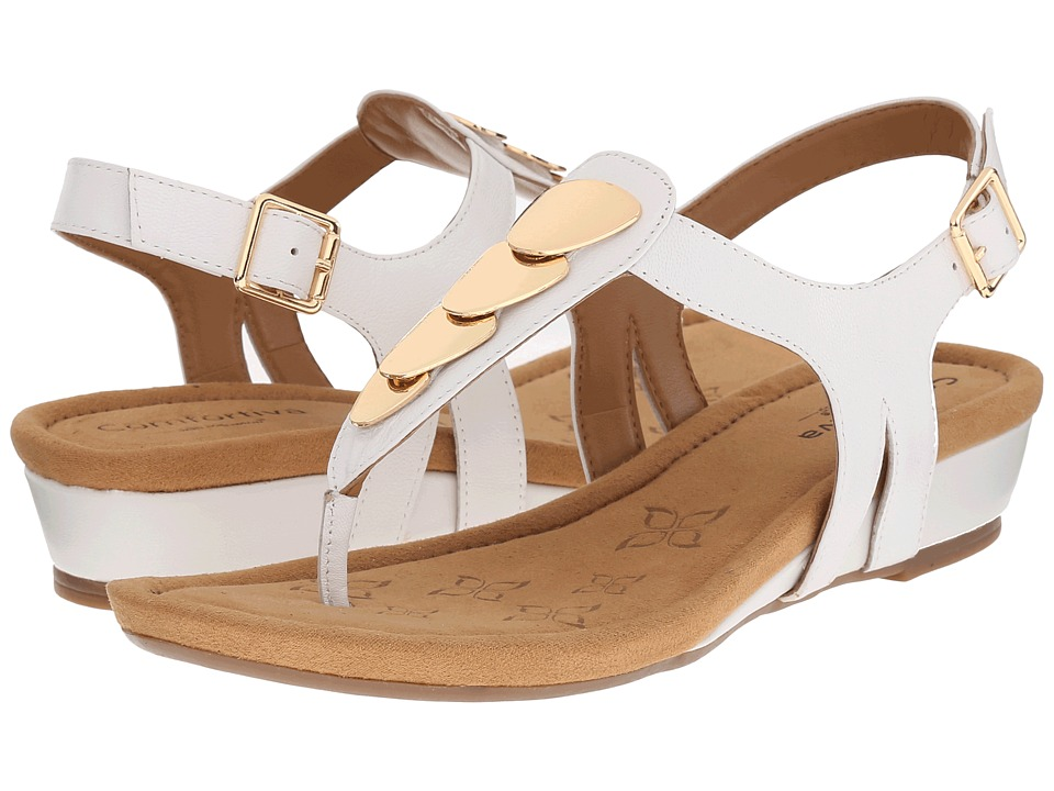 Comfortiva Summit White Goat Leather Pull Up Womens Sandals