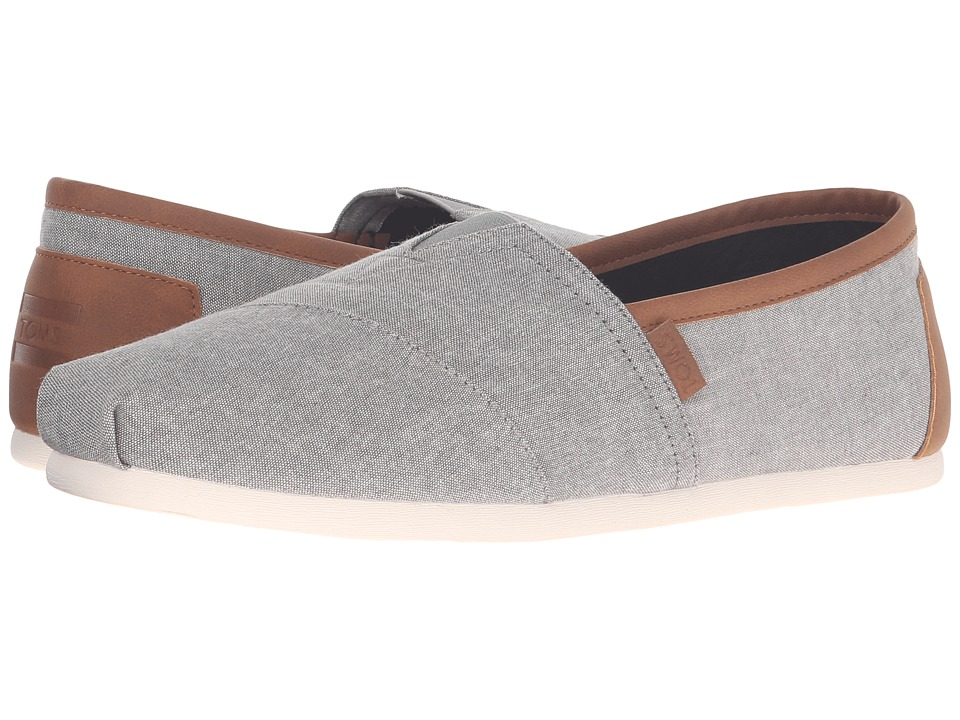 TOMS - Chambray Classics (Frost Grey Chambray 2) Mens Slip on  Shoes