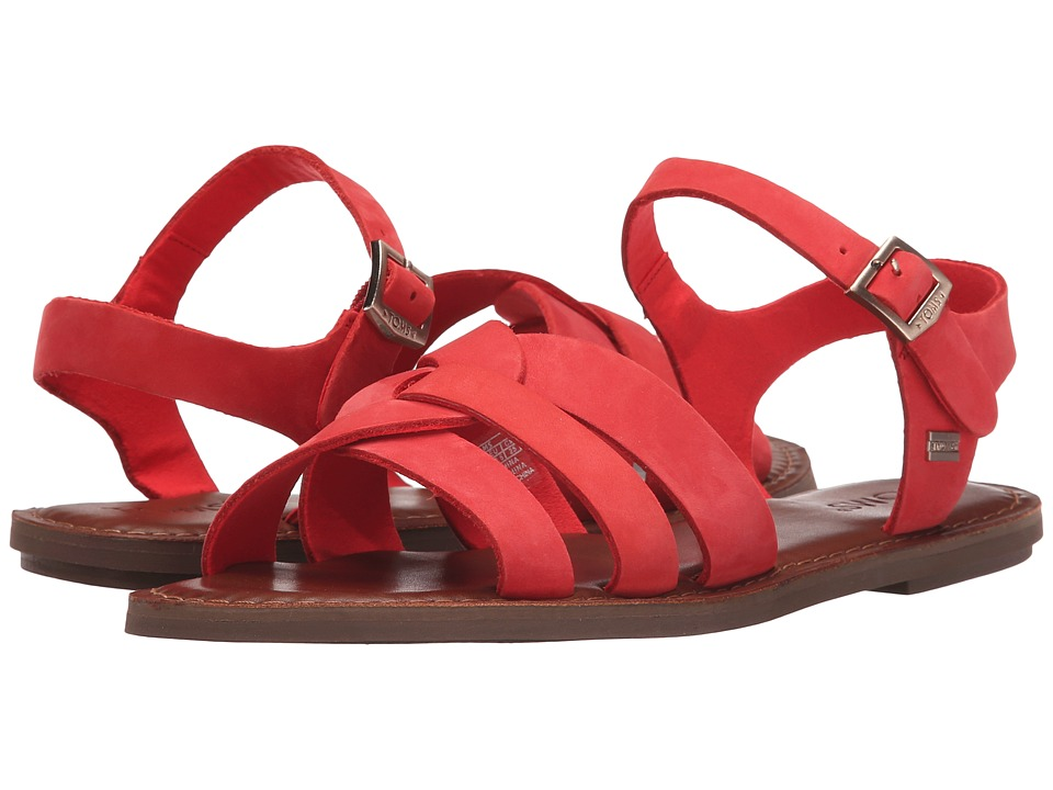 TOMS Zoe Sandal Red Nubuck Womens Sandals