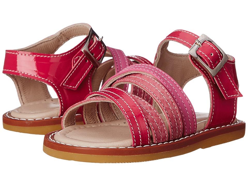 Elephantito Crossed Sandal Toddler PTN Hot Pink Girls Shoes
