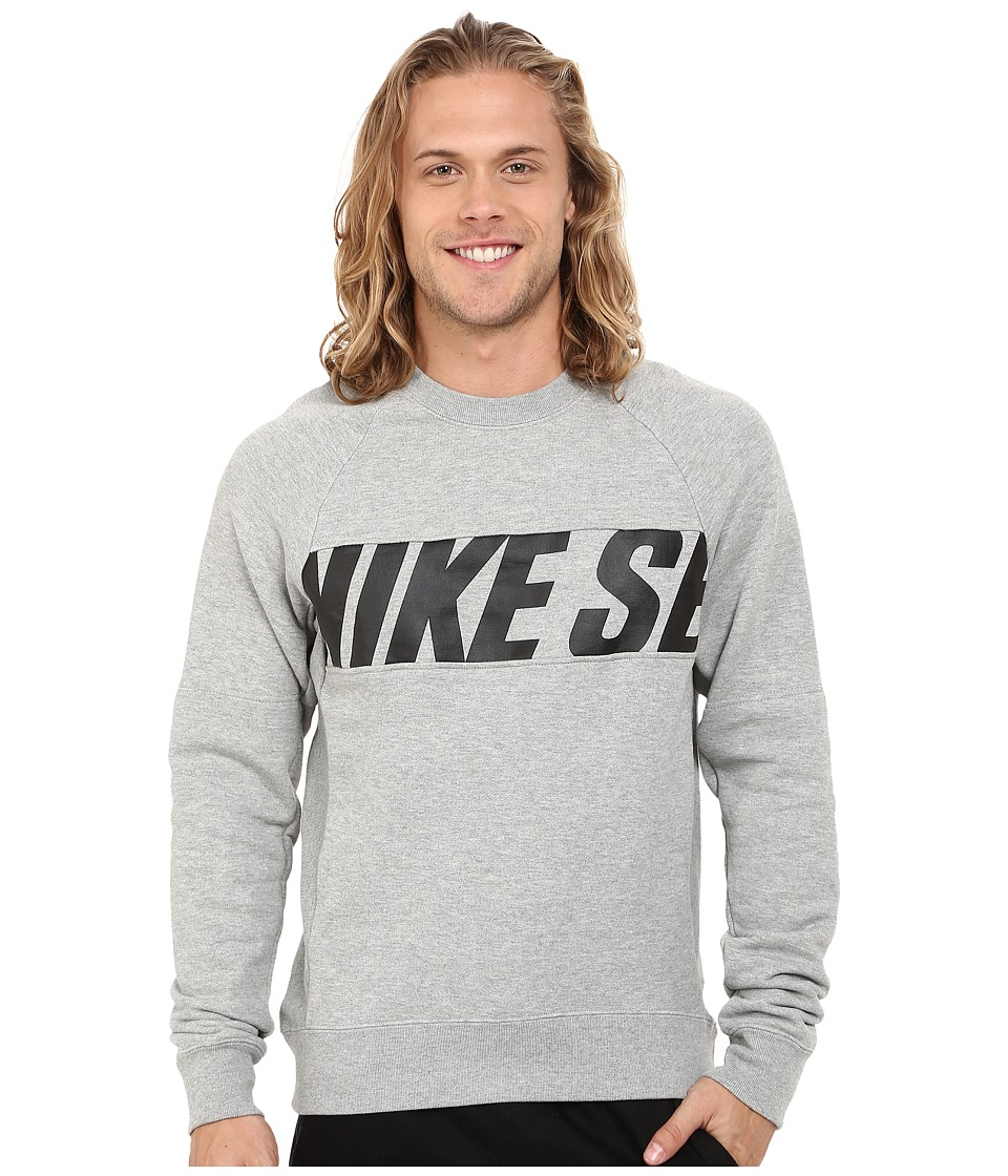 Nike SB SB Everett Motion Crew Dark Grey Heather/Black Mens Sweatshirt