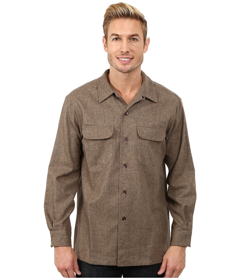 Pendleton - Board Shirt Taupe Solid Mens Clothing $125.00 AT vintagedancer.com