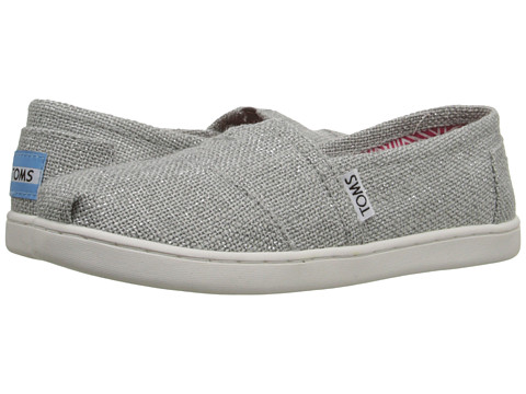 TOMS Kids Seasonal Classics (Little Kid/Big Kid) - Silver Linen Glimmer
