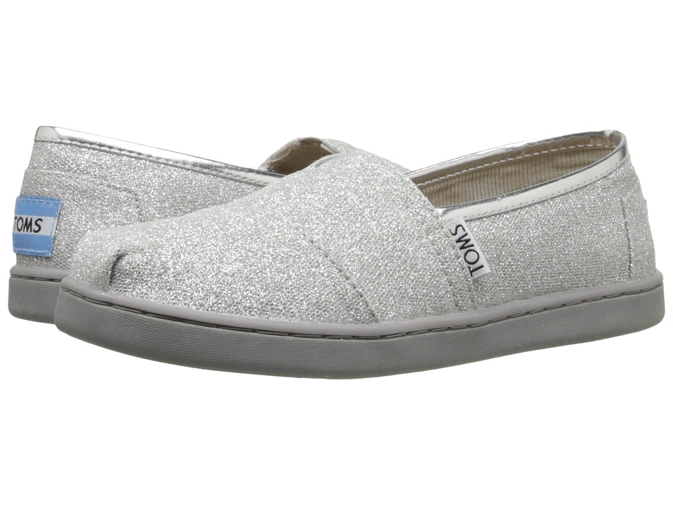 TOMS Kids Seasonal Classics (Little Kid/Big Kid) (Silver Glimmer) Kids Shoes