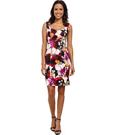 Laundry by Shelli Segal - Crisscross Front Print Scuba Dress