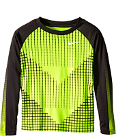 Nike Kids - Chevron Squares Dri-Fit Long Sleeve Raglan Shirt (Little Kids)