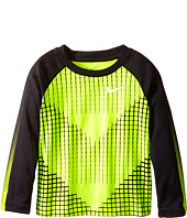 Nike Kids - Chevron Squares Dri-Fit Long Sleeve Raglan Shirt (Toddler)