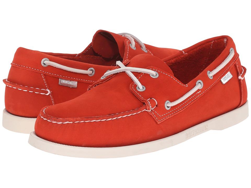 Sebago Dockside 70th Anniversary Orange Nubuck Mens Shoes