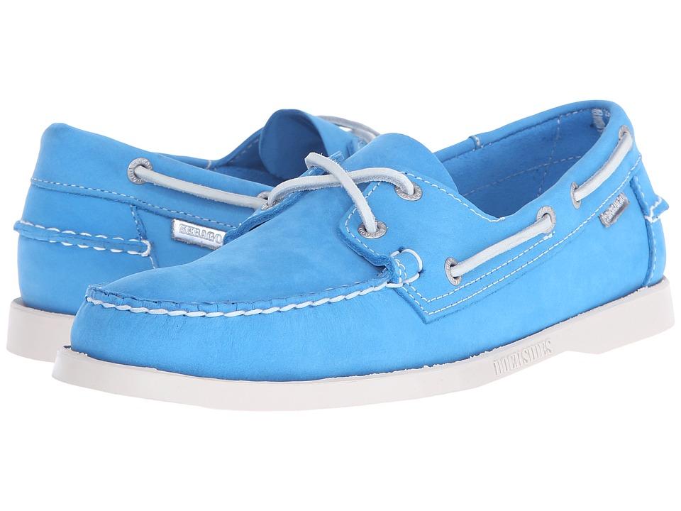 Sebago Dockside 70th Anniversary Aqua Blue Nubuck Mens Shoes