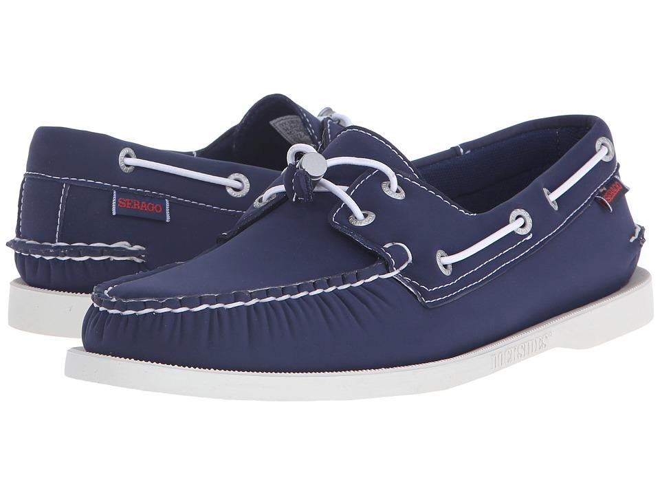 Sebago Dockside Ariaprene Navy Neoprene Mens Shoes