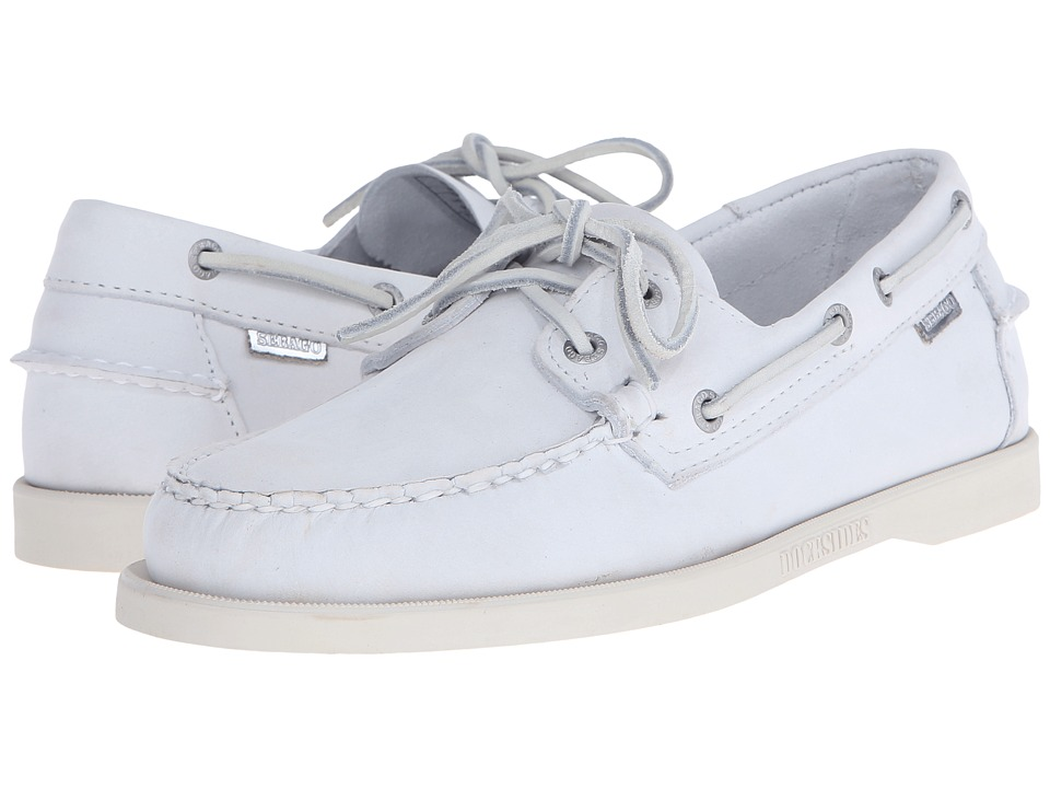 Sebago Dockside 70th Anniversary White Leather Mens Shoes