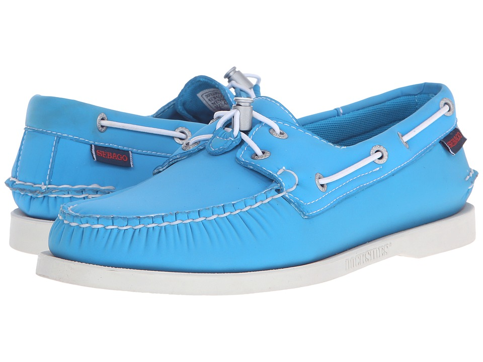 Sebago Dockside Ariaprene Aqua Blue Neoprene Mens Shoes