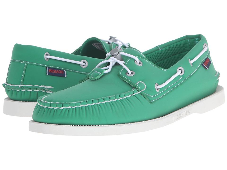 Sebago Dockside Ariaprene Green Neoprene Mens Shoes