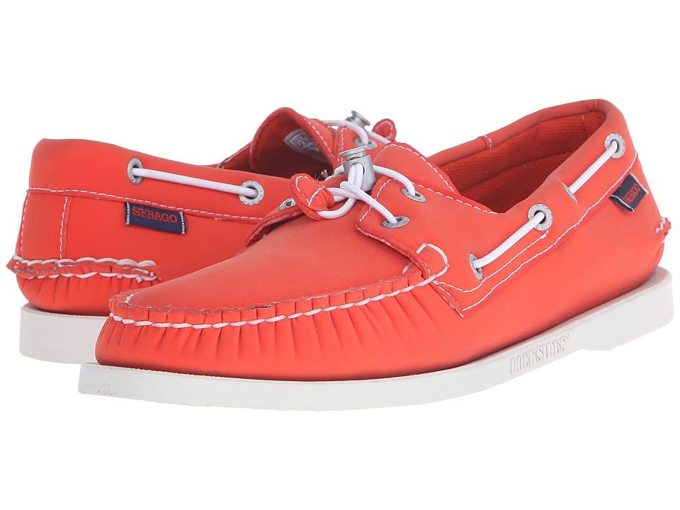 Sebago Dockside Ariaprene Orange Neoprene Mens Shoes