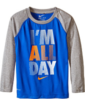 Nike Kids - I'm All Day Dri-Fit Long Sleeve Raglan Shirt (Little Kids)