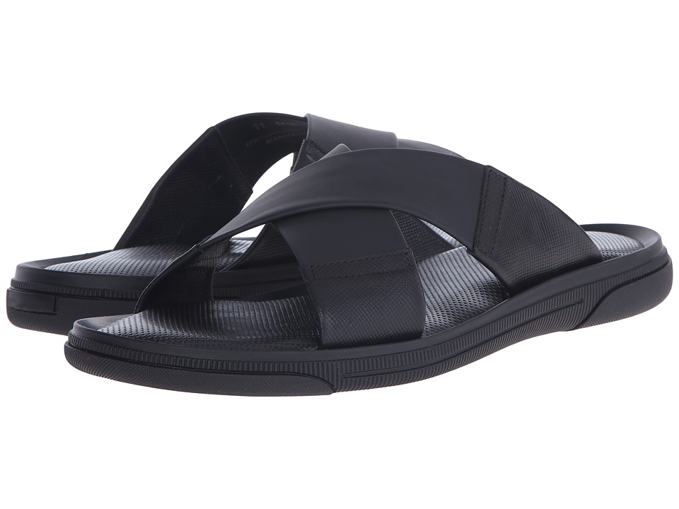 To Boot New York Bridge Black Mens Slide Shoes