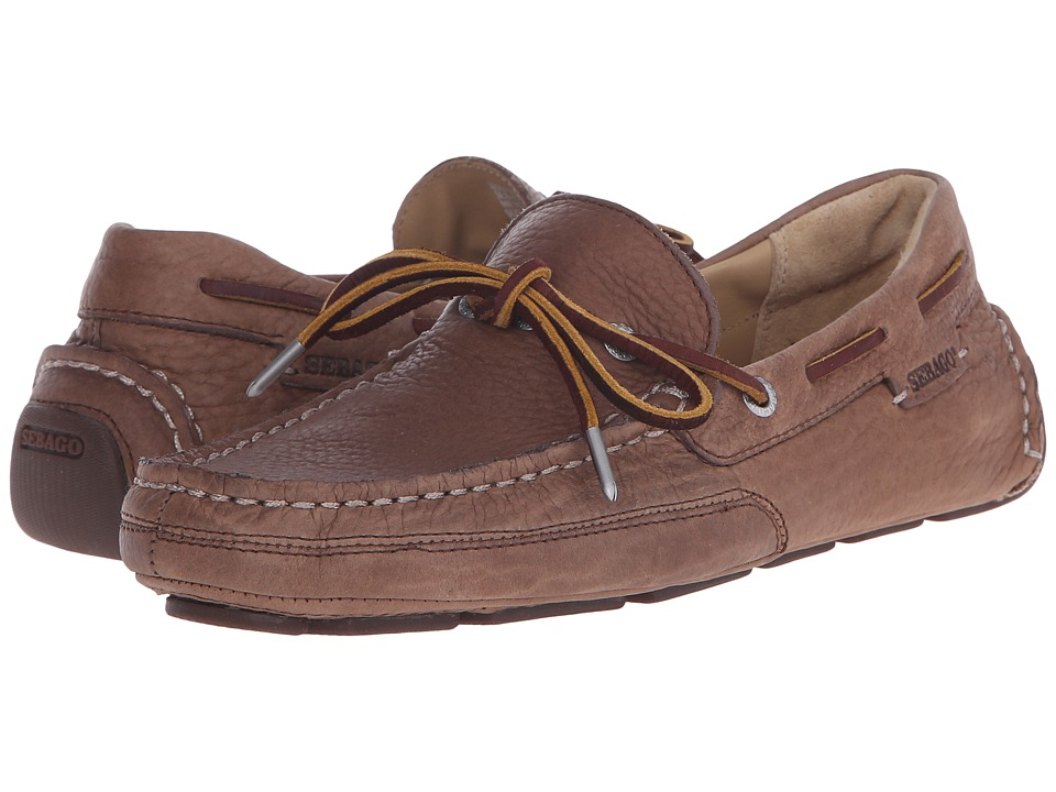 Sebago Kedge Tie Brown Bison Leather Mens Shoes