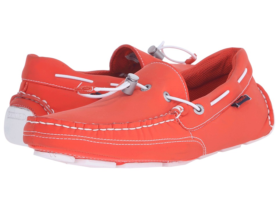 Sebago Kedge Tie Ariaprene Orange Ariaprene Mens Slip on Shoes