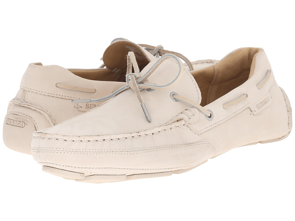 Sebago Kedge Tie Beige Nubuck Mens Shoes