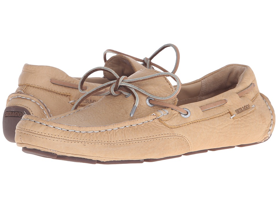 Sebago Kedge Tie Tan Bison Leather Mens Shoes