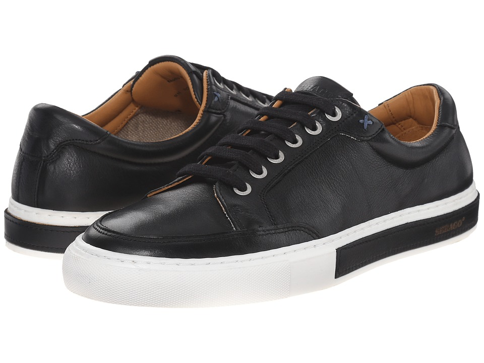 Sebago Robinson Lace Up Black Leather Mens Lace up casual Shoes