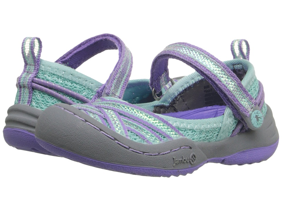 Jambu Kids Fia 3 Toddler Aqua/Purple Girls Shoes